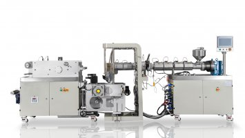 Small Laboratory Twin Screw Extrusion Casting Test Line