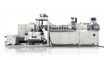Small Laboratory Triple Screw Extrusion Three Roll Calendering Line