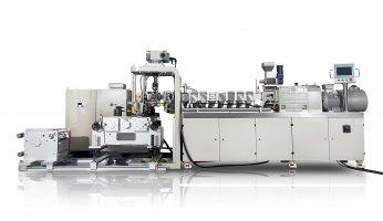 Small Laboratory Triple Screw Extrusion Three Roll Calendering Line