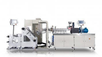 Small Laboratory Twin Screw Extrusion Three Roll Calendering Line