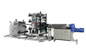 Rubber extrusion calendering & laminating line