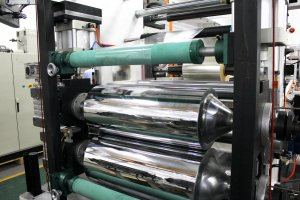 Rubber extrusion calendering & laminating line-rolls