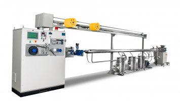 Single Screw Extrusion Small Hollow Pipe  Line