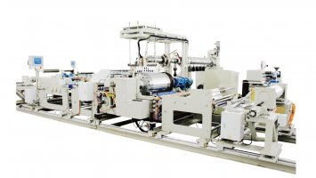 Aluminum plastic film production line