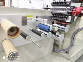 Lab small multi layer cast film line-rollers