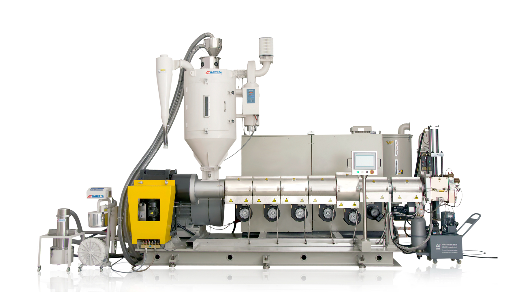 Conical single screw extrution granulation line For Crushing PET